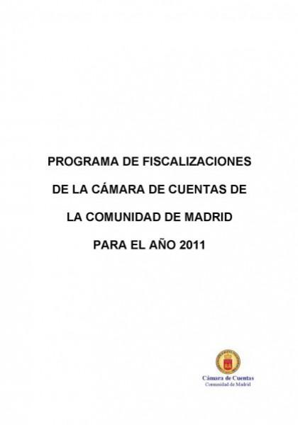 Programa de Fiscalizaciones para el año 2011.