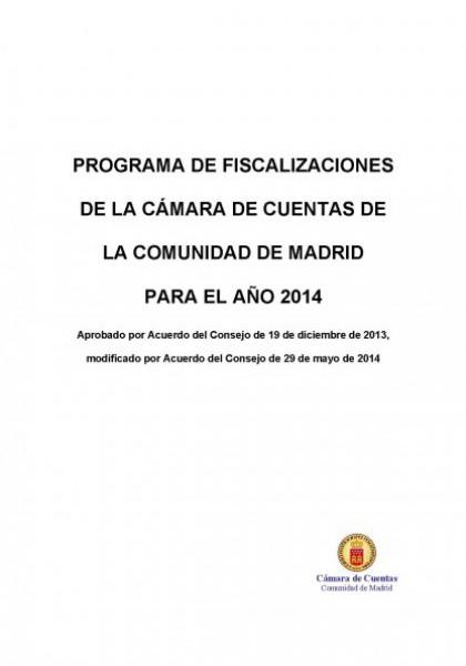 Programa de Fiscalizaciones para el año 2014.