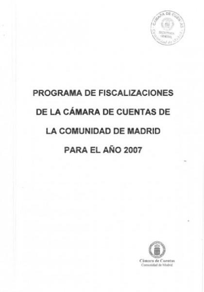 Programa de Fiscalizaciones para el año 2007