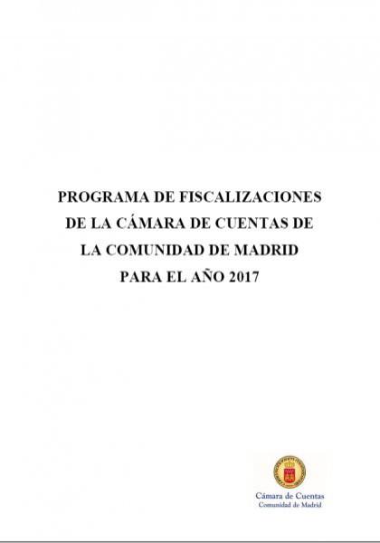 Programa de Fiscalizaciones para el año 2017. (Acuerdo del Consejo de 29 de diciembre de 2016)