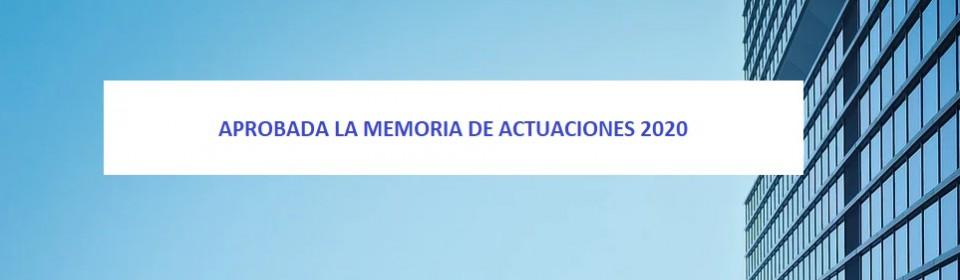 Memoria Actuaciones 2020