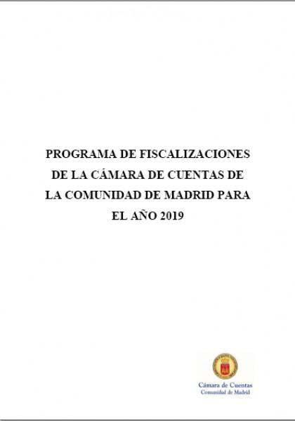 Programa de Fiscalizaciones para el año 2019. (Acuerdo del Consejo de 23 de enero de 2019).