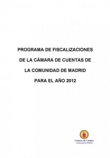 Programa de Fiscalizaciones para el año 2012.